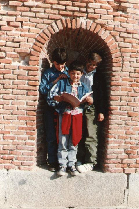 Con Rubén y Sergio.