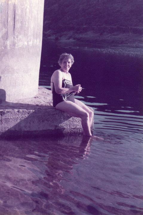 Un bañito en el rio Alagón.