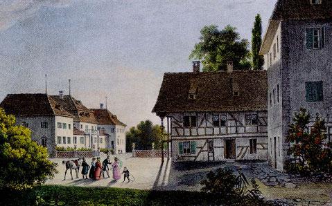 Lithographie von Gearbes Viars 1828; C. Stäheli, Schloss Wolfsberg bei Ermatingen, GSK Bern, S. 11