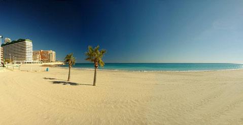 Calpe Sandstrand im Februar