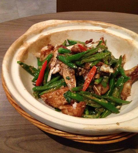 fish headと青唐辛子の炒めもの。たしか46元。爽やかな辛さでご飯がすすむ!