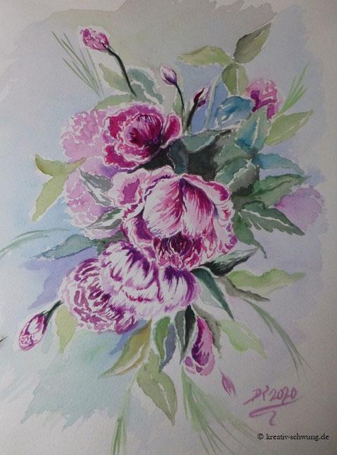 Rosen in lila