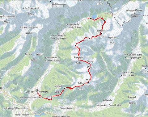 11-Gipfel-Tour von Oberrasen zum Antholzer See