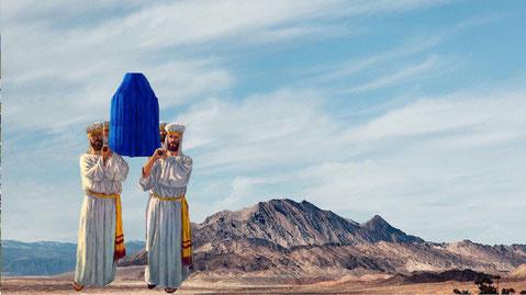transport van de ark van het verbond