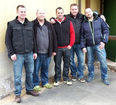 v.l.: Manuel Bingel, Timo Becker, Marcel Funke, Timo Frink, Swen Czygan
