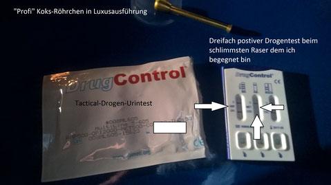 Z.B. für solche Urintests bzgl. Drogen auf der Motorhaube sind Körperlampen super.