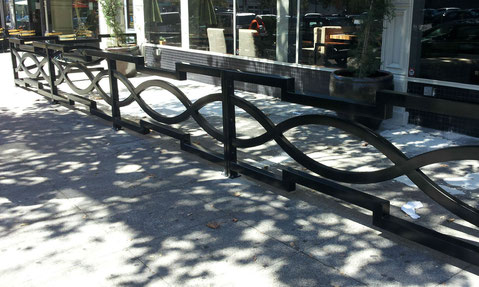 grant irish steel restaurant outdoor seating partition