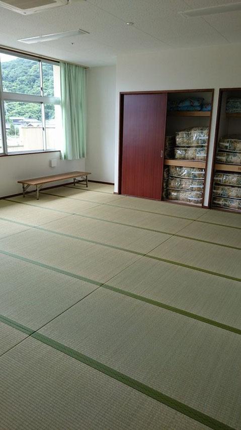 宿泊室。畳のかほりがします。