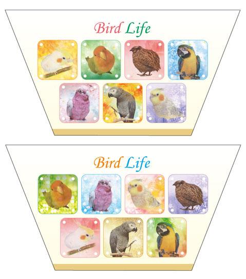 鳥づくしポーチ見本