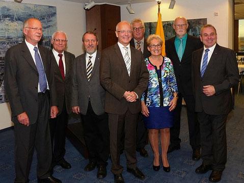 Günter Kirsten, Hans-Dieter Philipps, Frank Sichau, Oberbürgermeister Reinhard Paß, Peter Wülfing, Angelika Kleine-Möllhoff, Wolfgang Krämer, Albert Ritter