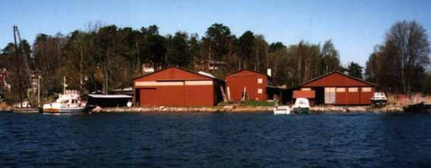 Chantier Abrahamsson & Börjesson à Ransö - Suède