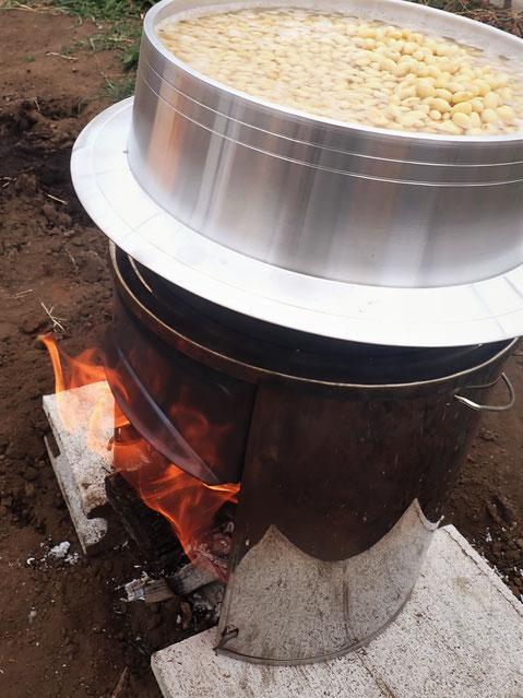 津久井在来大豆で味噌づくり@すどう農園