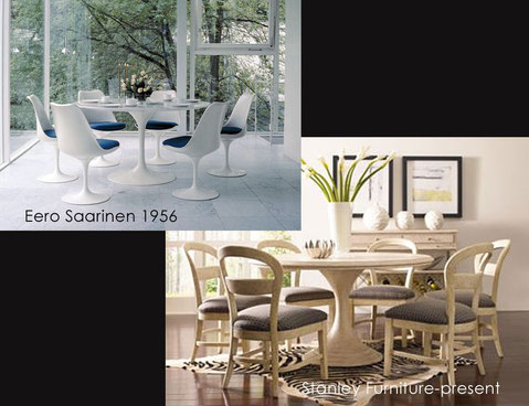 Saarinen table 156 and Stanly Furniture today