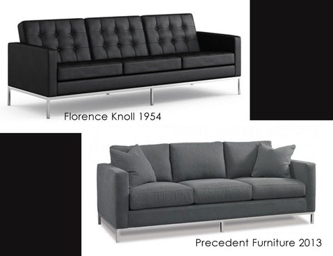 Florence Knoll's 1954 sofa and present vision from Precedent Furniture
