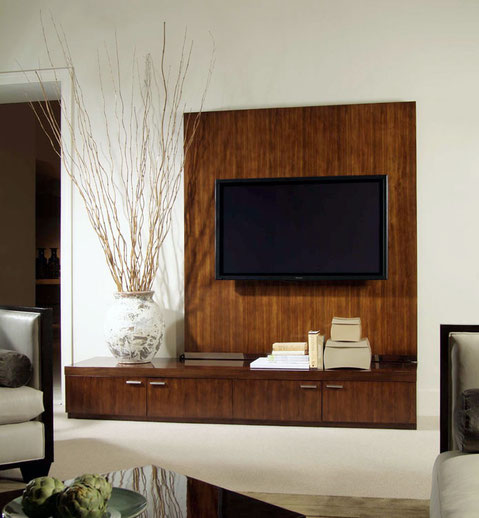 Exquisite TV wall panel and low caabinetry from Century Furniture.
