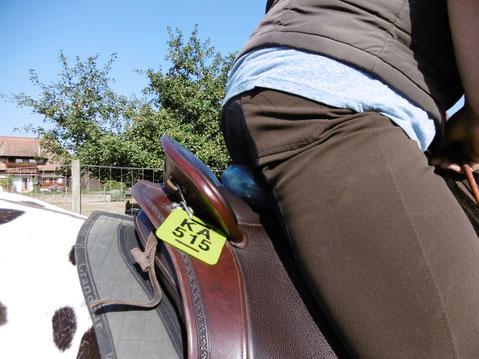 Die Franklinrolle im Sattel - ich habe mich nur fürs Foto nach vorne gebeugt, normalerweise sitzt man völlig korrekt aufrecht