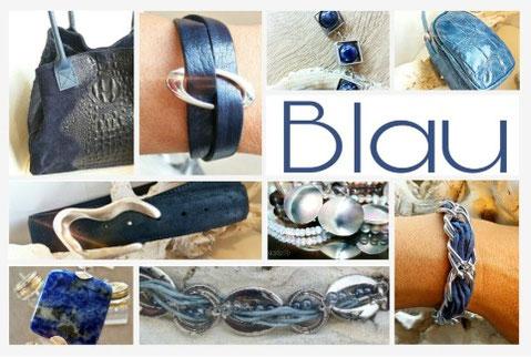 Accessoires in Blau