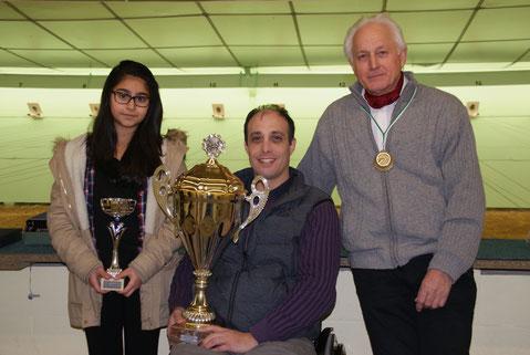 Mélina ERDAG, Pierre Marie BANNIER et Christian CHARLET remportent le Challenge GUERY-GUERBETTE le 21 novembre 2015 à BELLEU