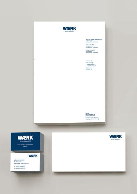 WAERK Geschäftsausstattung Briefpapier Visitenkarte