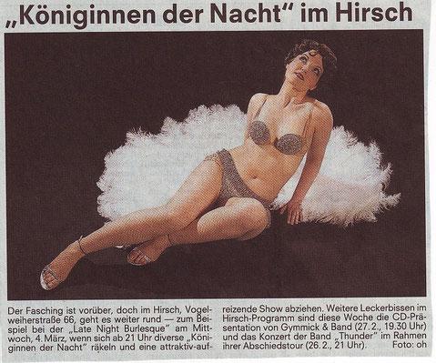Nürnberger Nachrichten, Stadtanzeiger, 25.02.09