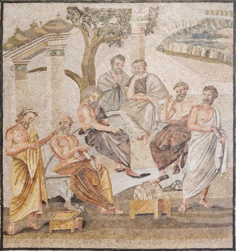 Platons Akademie (Fresko in Pompeji)
