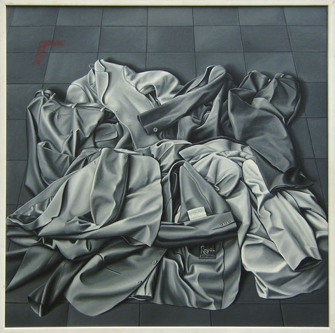 Aus der Serie: Ein modernes Requiem, 1980, Ölfarbe auf Leinwand, 100/100 cm