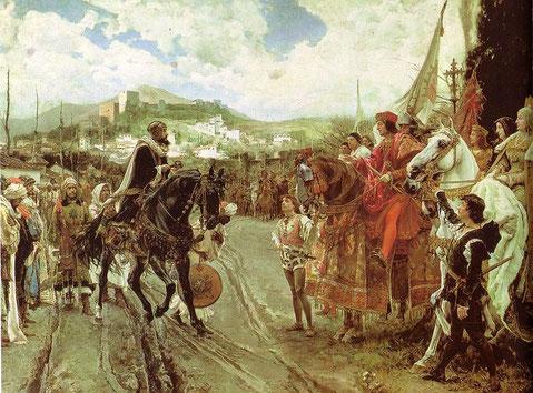 Francisco Pradilla Ortiz: Boabdil übergibt die Schlüssel Granadas (1882)