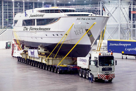 Unser bescheidenes Boot bei der Auslieferung