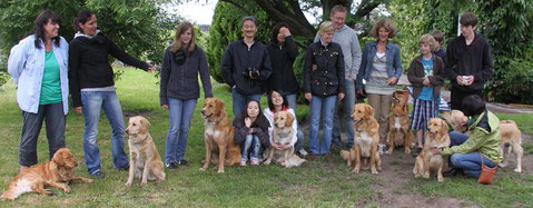 Aggy, Suri, Andy, Luna, Hugo, Lilli, Jora, Mama Cecile