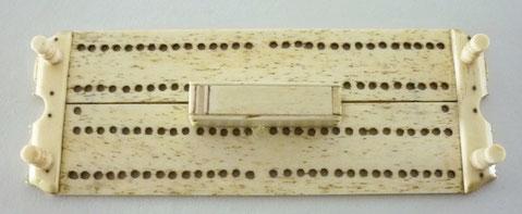 Prisoner of war folk art  cribbage board