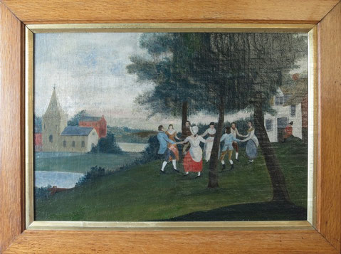 English naive school country dancing