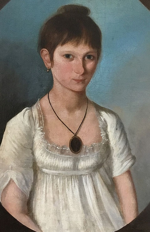 Regency oil portrait of Ann Dorr