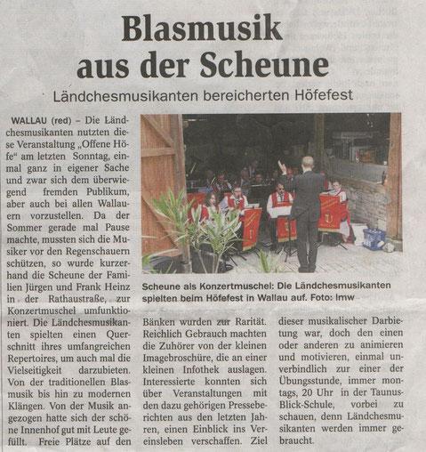 Höfefest Wallau am 19.6.2011 im Hof (Scheune) der Familien Heinz