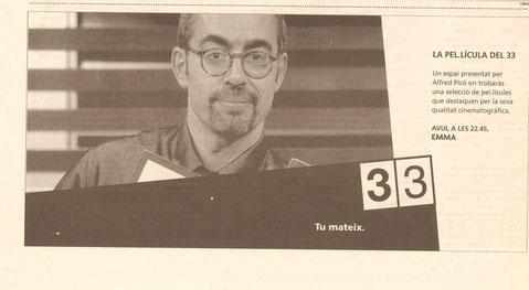 El Periódico anuncia els espais de l'Alfred a Canal 33