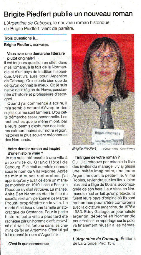 Article Ouest-France du 26 mars 2018