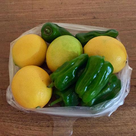 無農薬のレモンとマンピー♪ うちの家はレモンとマンピーの消費率が高いんで嬉しい♪