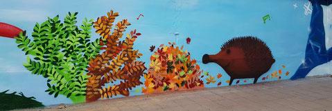 PAT23 Graffiti Workshop Leipzig - 4 Jahreszeiten - Regenbogen Grundschule