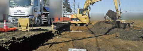 未経験者用仕事紹介 現場掘削中の写真