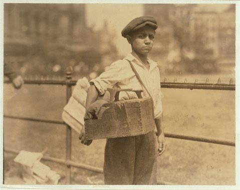 Limpiabotas en Nueva York, 1924