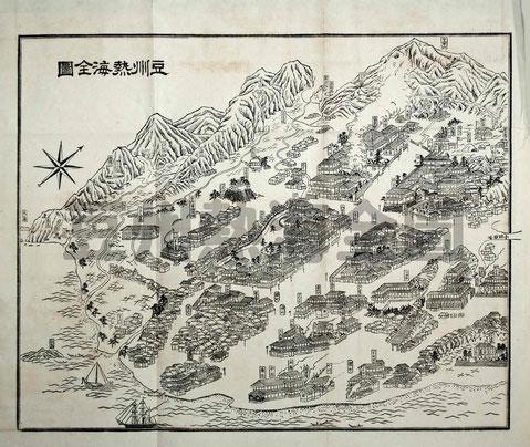 豆州熱海全圖-熱海獨案内より