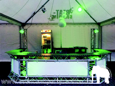 mobiler Tresen Promotresen Promotheke zu mieten in Marwitz mieten eventservice zeltverleih partyservice marwitz