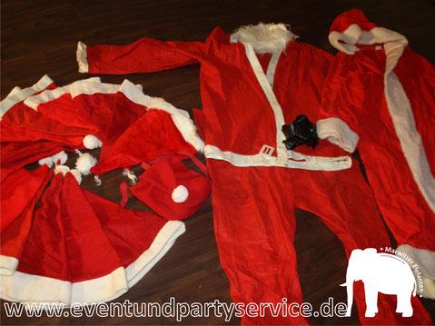 weihnachtsmann kostüm mieten weihnachtsfrau kostüm leihen faschingskostüm mieten kostümverleih kostüm ausleihen oberhavel eventservice zeltverleih partyservice marwitz