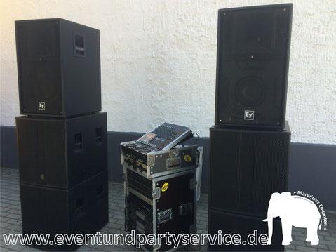 tonanlage boxen zu mieten in Marwitz mieten eventservice zeltverleih partyservice marwitz