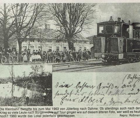 Postkarte Bürgermühle (Quelle: Museum Jüterbog)