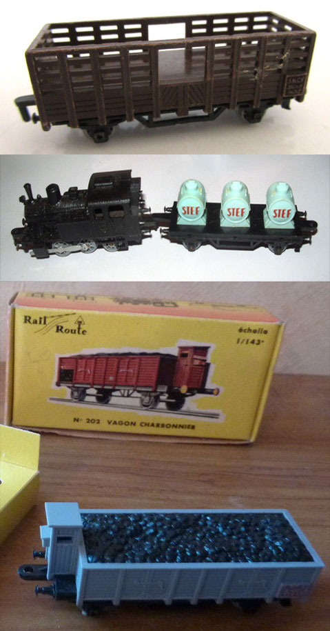 Modelos originales de Rail Route.