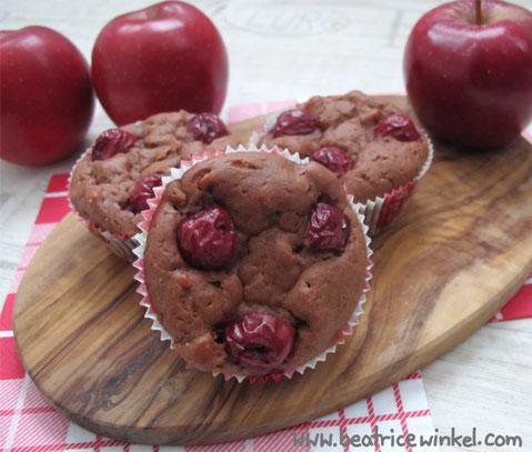 Beatrice Winkel - Apfel-Kirsch-Muffins