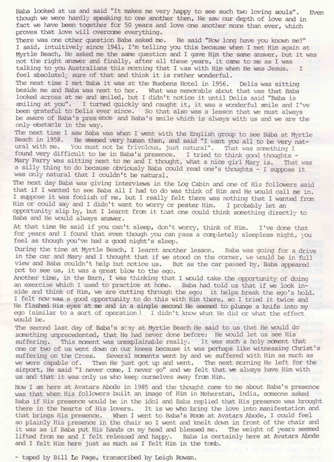 2. Courtesy of ; Meher Baba Australia newsletter - Feb.1985, p.6-7