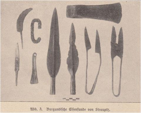 """Die Funde aus dem """"Rick"""", 1894."""