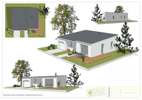 plan maison 3 chambres