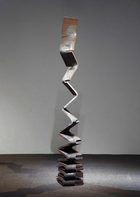 Metamorphosis - to the sky <No.M-57>     H.260x 30x 30cm / mild steel, cor-ten steel  / 2015